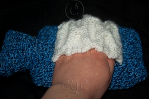 Hand Warmer Patch in Honeycomb Stitch