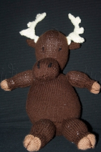 Finished Knitted Moose