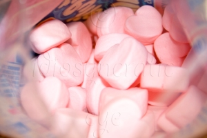 Heart-Shaped Marshmallows in the Bag