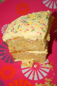Slice of Confetti Cake