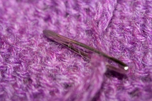 Weaving Needle on Shawl