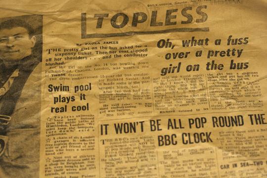 1964 - Topless Girl on Bus