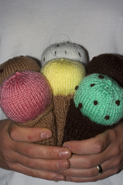 Handful of Hand Knitted Ice Creams