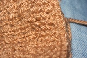 Ice Cream Cone - Moss Stitch Effect