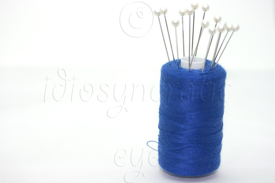 Blue Thread with Pins