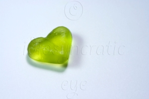 Green Jelly Heart