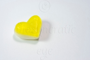 Yellow Jelly Heart Sweet