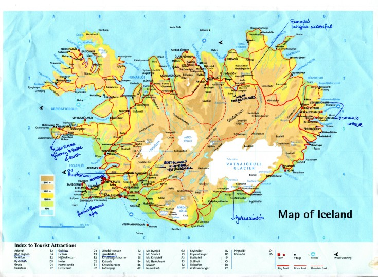 Annotated Map of Iceland